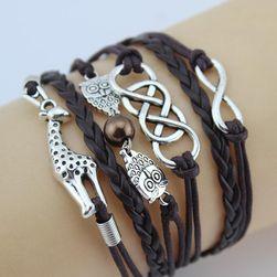 Многослойные браслеты с жирафом и совами