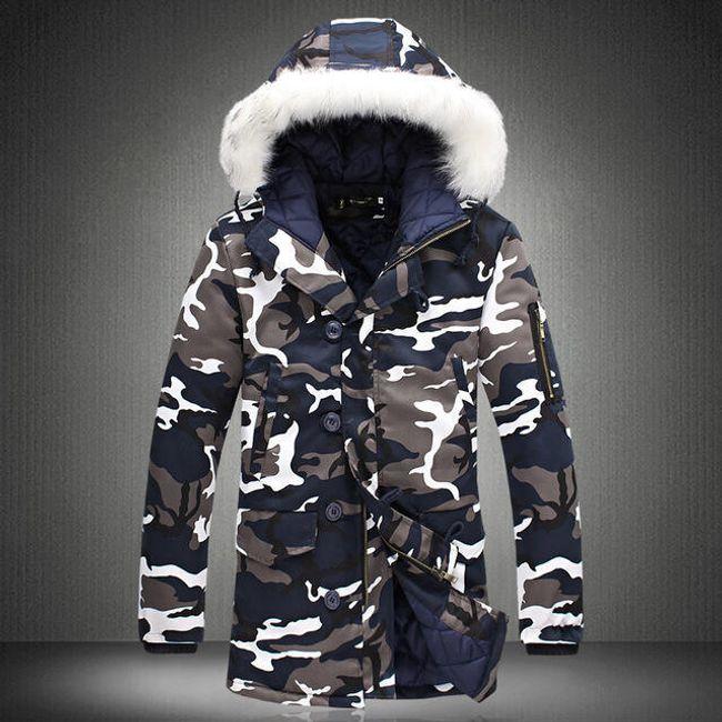 Pánská zimní bunda Taron - Modrá-XL 1