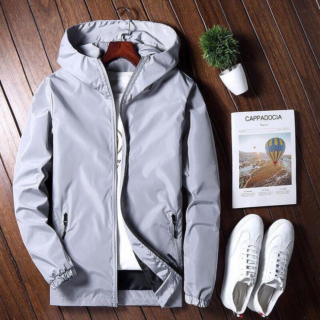 Pánská prodyšná bunda s kapucí - 3 barvy 1