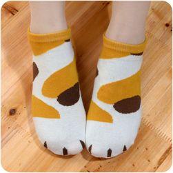 Дамски чорапи с котешки принт