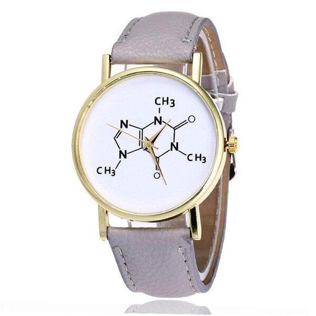Dámské hodinky s chemickým vzorcem na ciferníku - různé barvy 1