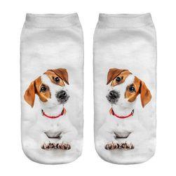 Kotníkové ponožky s pejsky