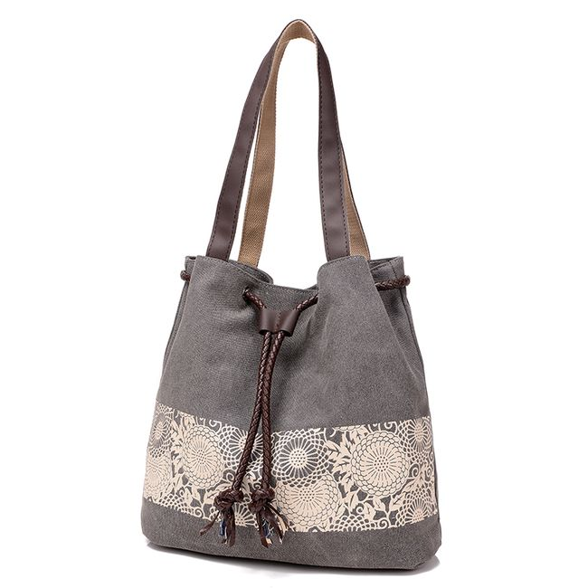 Taška přes rameno s abstraktním květinovým motivem - více barev 1