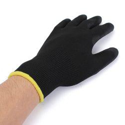 12 párů černých pracovnách rukavic - 3 velikosti