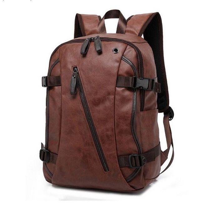Stylový batoh z umělé kůže - různé barvy 1