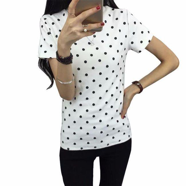Dámské tričko s puntíčky 1