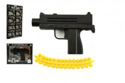 Pistole kov/plast 11cm na kuličky mix druhů v krabičce 15x12cm 8ks v boxu RM_00311306