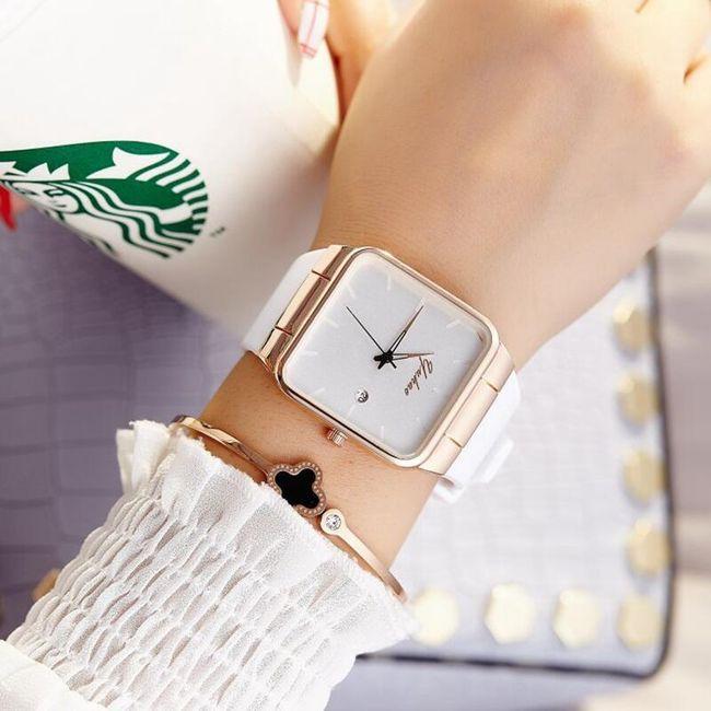 Dámské hodinky - hranaté 1