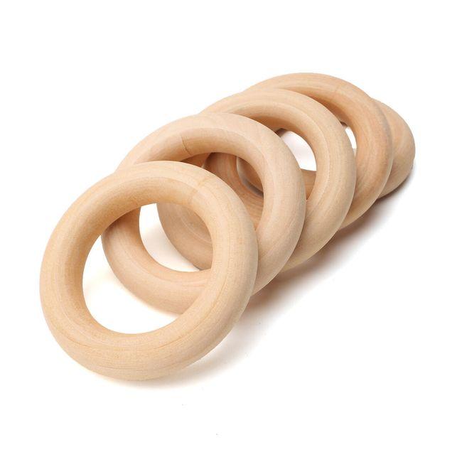 Naravni leseni obroči za DIY 20 kosov 1