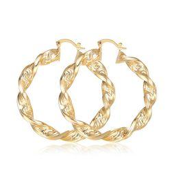 Női elegáns fülbevaló arany színben