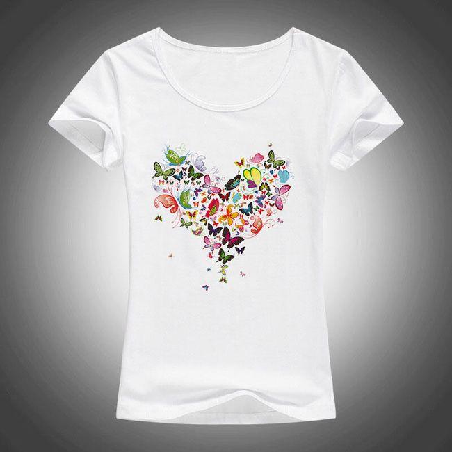 Tričko se srdíčkem s motýlků 1