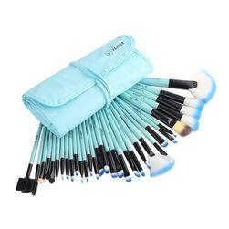 Set četkica za šminkanje sa futrolom - 5 boja
