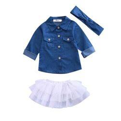 Set pentru fete - fustă, tricou, bentiță FC45