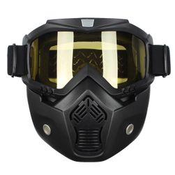 Защитная маска для лица с жёлтыми стёклами