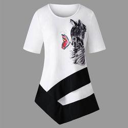 Plus size tričko s kočkou