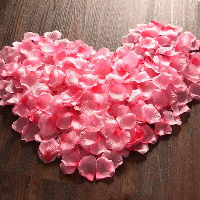 Tisíc kusů okvětních plátků růží - různé barvy 1