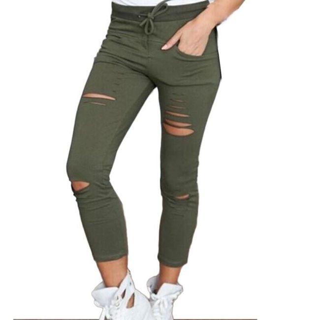 Potrhané dámské kalhoty - 3 barvy 1