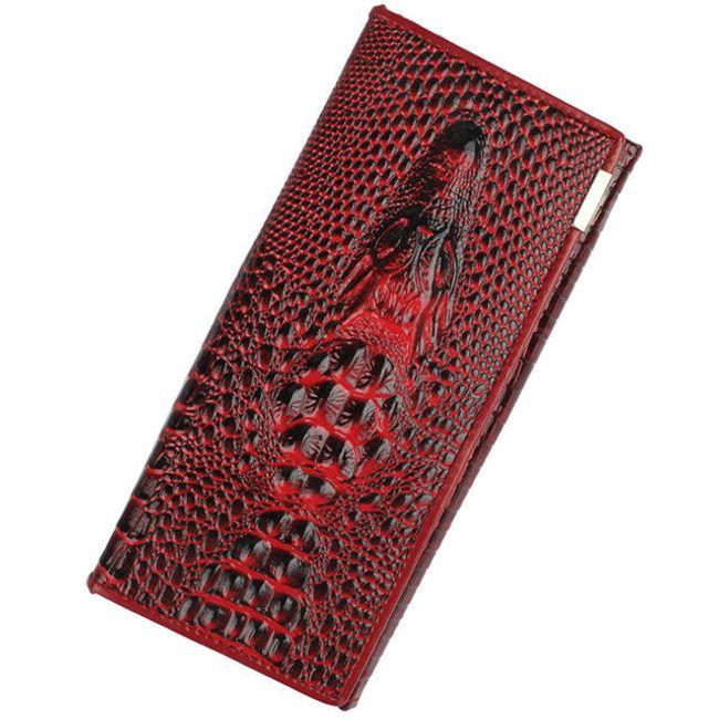 Luxusní peněženka imitující krokodýlí kůži 1
