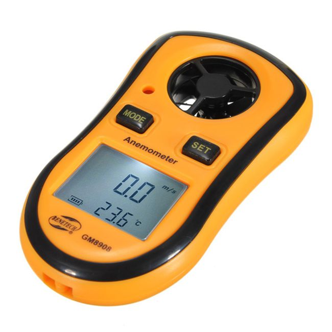 Anemometru și termometru pentru buzunar - 2 în 1 1