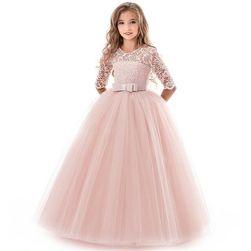 Princeznovské dívčí šaty - Růžová 3