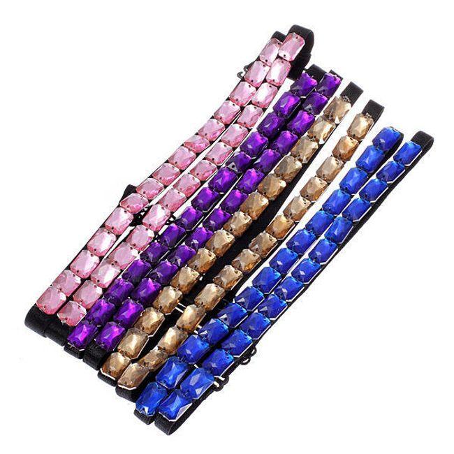 Dekorativní ramínka na podprsenku s barevnými kamínky - 4 barvy 1