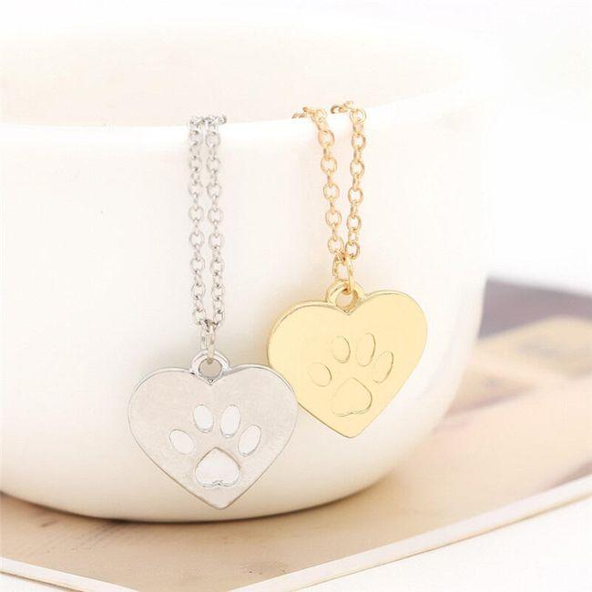 Náhrdelník pro milovníky psů ve zlaté nebo stříbrné barvě 1