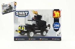 Stavebnica Dromader SWAT Polícia Auto 206ks v krabici 32x21,5x5cm RM_23223504
