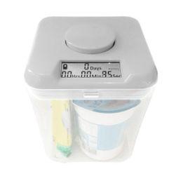 Kuchynský box s časovačom (biela). návykový pomocník PD_1624170