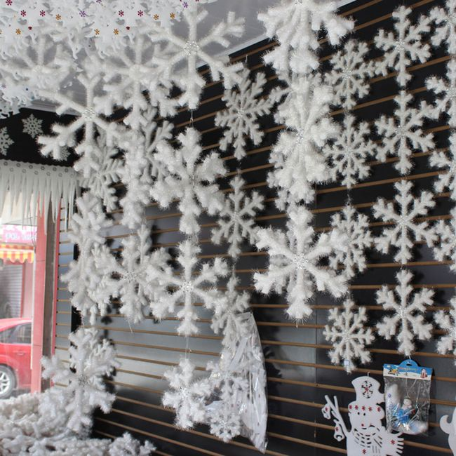 Vánoční dekorace - vločka - 30 kusů 1
