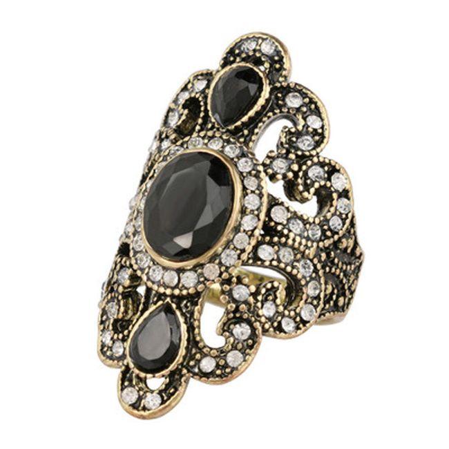 Dámský prsten s nápaditým kamenem - 2 barvy 1