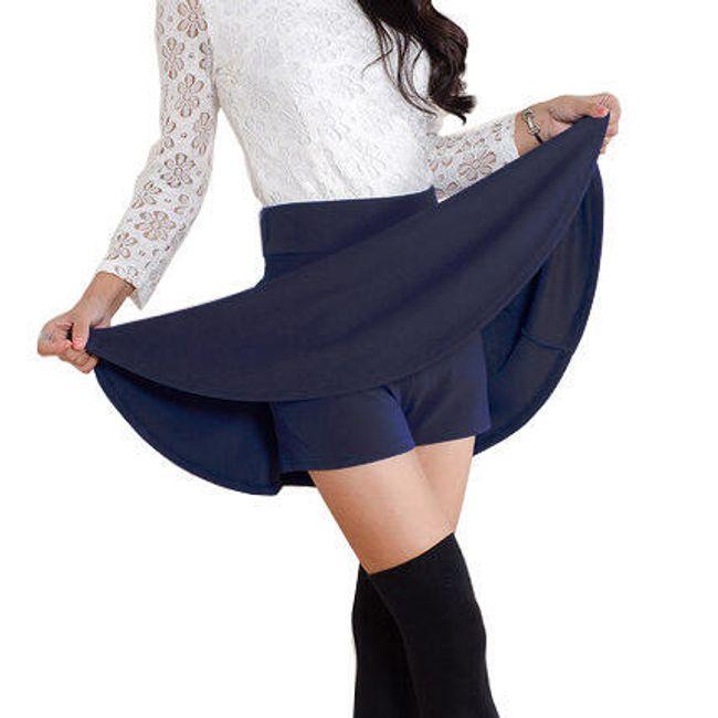 Sukně se všitými kraťasy - Tmavě modrá-velikost č. 5 1
