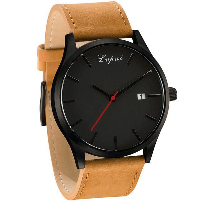 Pánské elegantní hodinky ve čtyřech barevných variacích 1