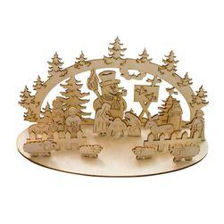 Drewniana szopka bożonarodzeniowa - 2 warianty