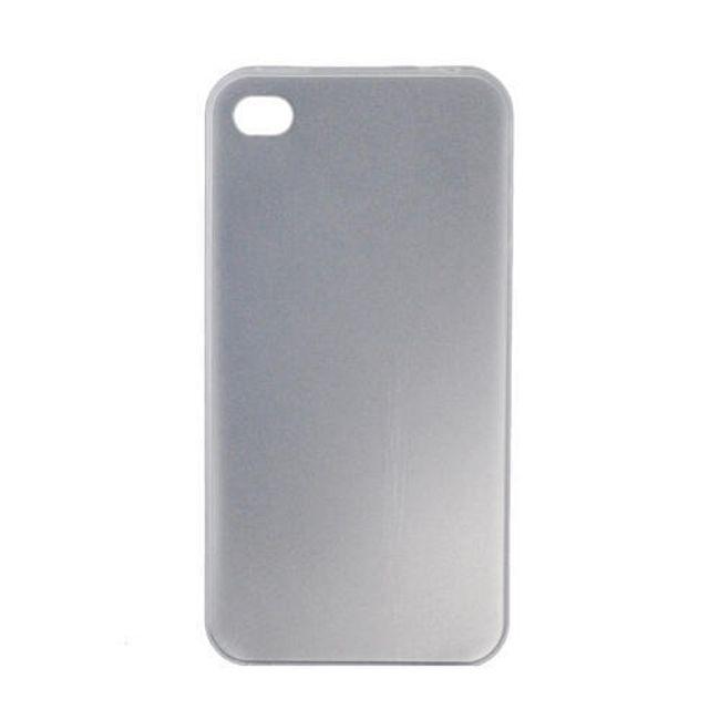 Plastový ochranný kryt na iPhone 4 a 4S - bílý ultratenký průsvitný 0.3 mm 1