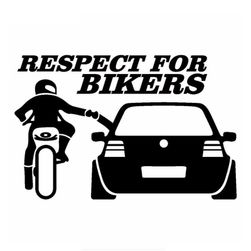 Nalepnica za auto - RESPECT FOR BIKERS