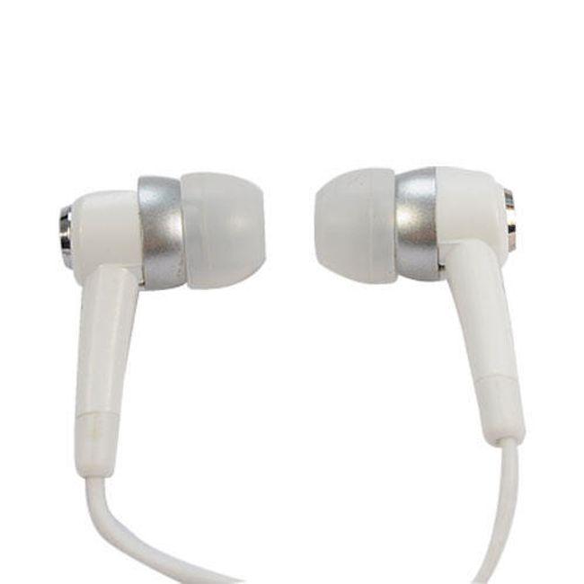 Stereo słuchawki 3,5mm - białe wkładki douszne 1