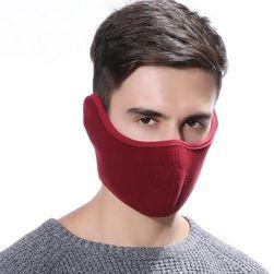 Зимняя марлевая маска ZR56 Бордовый