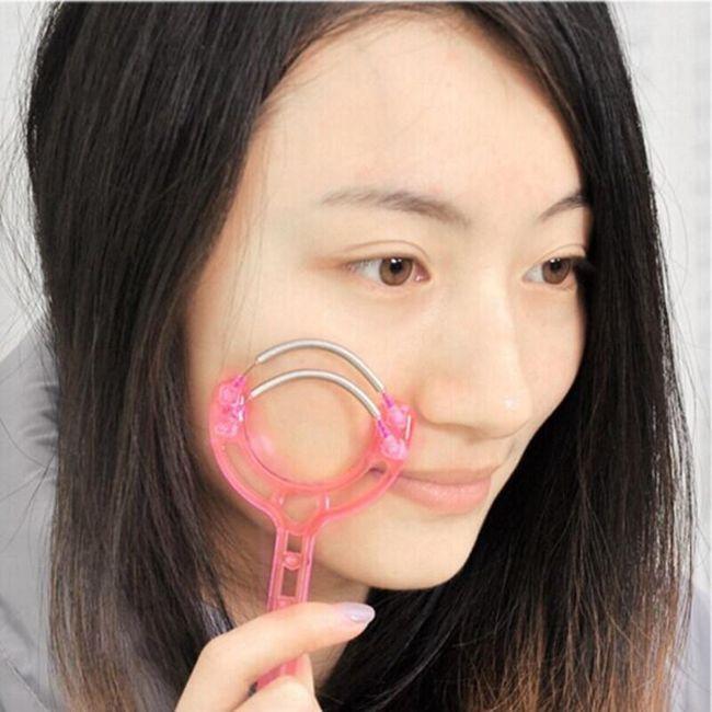 Dvojna vzmet za odstranjevanje dlačic iz obraza 1