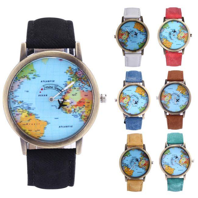 Ceas imprimat cu harta lumii 1