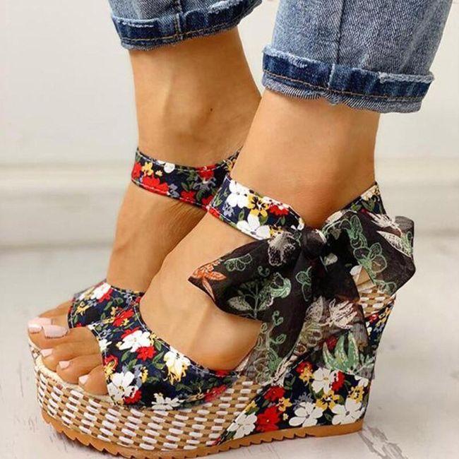 Damskie buty na koturnie Ema 1
