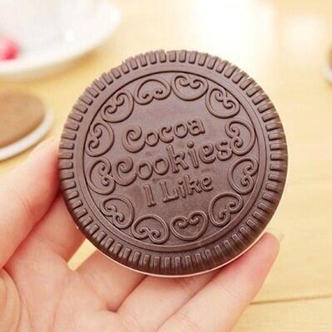 Malé zrcátko ve tvaru sušenky 1