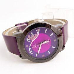 Dámské hodinky se zajímavým motivem motýla Fialová