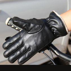 Motorkářské teplé rukavice - 2 barvy