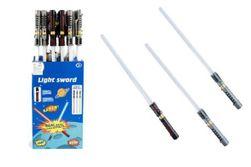 Meč svítící plast 72cm na baterie měnící zvuk dle pohybu se světlem 3 barvy 24ks v boxu RM_00312430