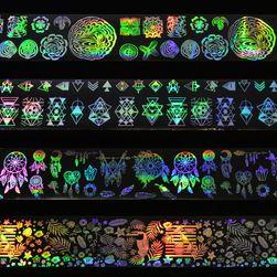 Folie holografică pentru unghii - 8 bucăți