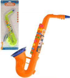 Saxofon dětský plastový 37cm 2 barvy v sáčku *HUDEBNÍ NÁSTROJE* SR_DS28365001