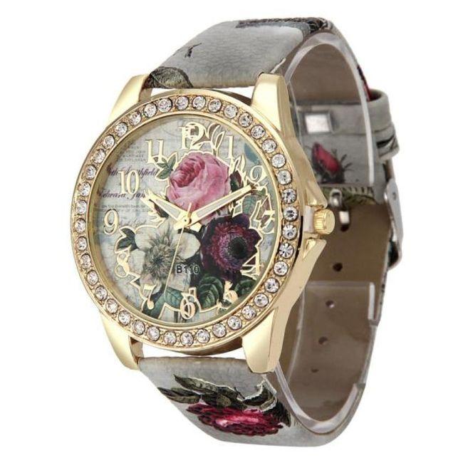 Ženski retro sat sa ružama - 6 boja 1