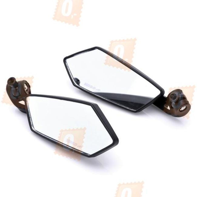 Designová zpětná zrcátka na motorku, univerzální – černá plastová (2ks) 1