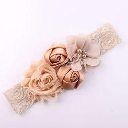 Детская повязка на голову с розочками- 12 цветов