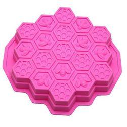 Szilikon univerzális forma - méhkas